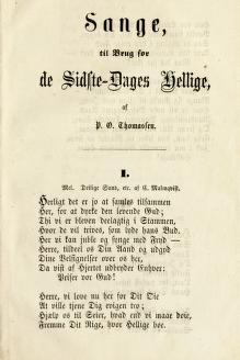 Sange, til Brug for de Sidste-Dages Hellige (1857)