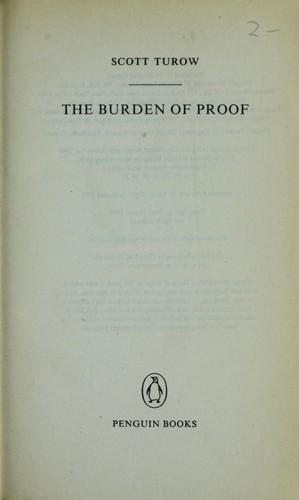 The burden of proof.