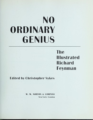 Download No ordinary genius