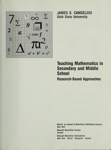 Download Teaching mathematics in secondary and middle school