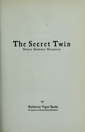 Download The secret twin