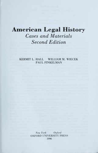Download American legal history
