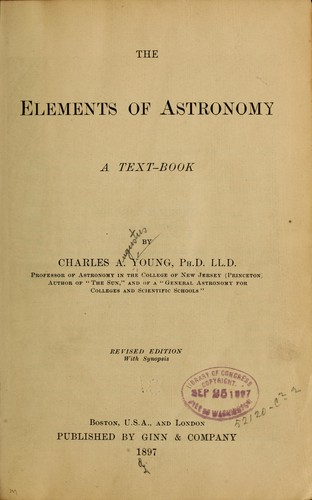 The elements of astronomy.
