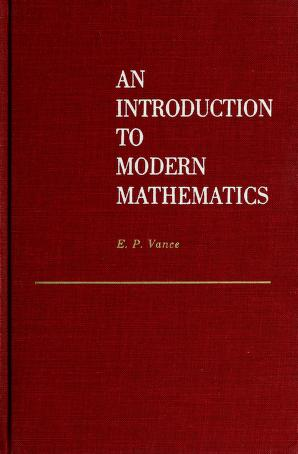 Cover of: An  introduction to modern mathematics. | Elbridge Putnam Vance