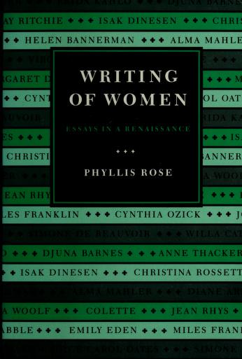 Cover of: Writing of women | Phyllis Rose