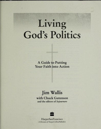 Living God's politics by Jim Wallis