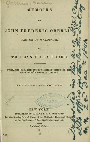 Memoirs of John Frederic Oberlin